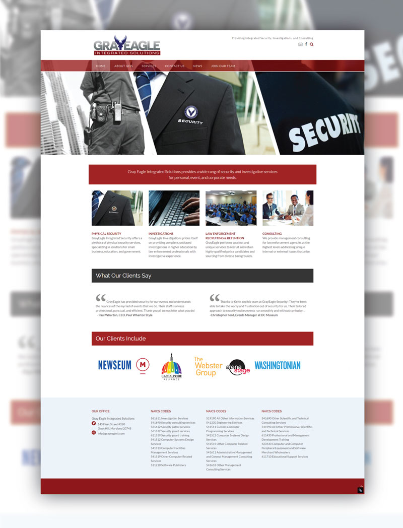 Gray Eagle Integrated Solutions Website